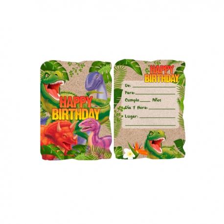 Tarjetas De Dinosaurios Para Cumpleaños Adquierelo En Globos Yuli