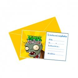 Tarjetas De Plants Vs Zombies Para Fiestas Adquierelo En