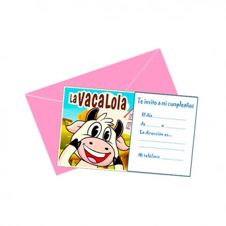 Tarjetas De La Vaca Lola Para Fiestas Adquierelo En Globos Yuli