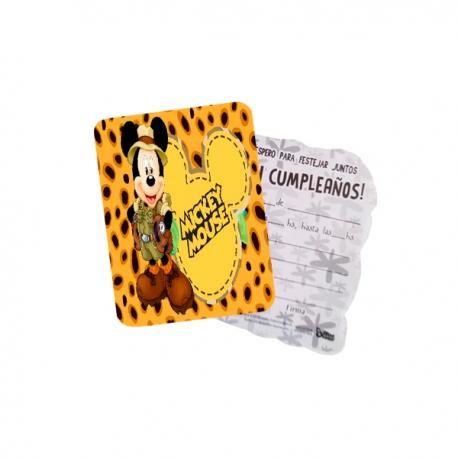 Invitaciones De Cumpleaños Mickey Safari Encuentralas En Globos Yuli